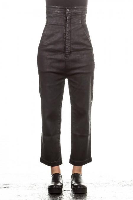 Rick Owens DRKSHDW Damen 7/8  Jeans gewachst schwarz