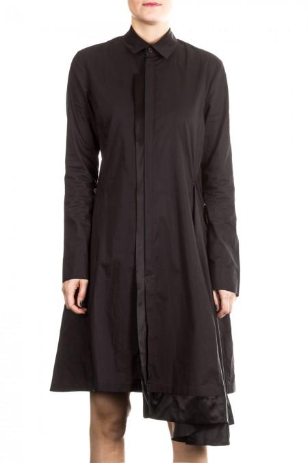 Y-3 Damen Hemdblusenkleid schwarz