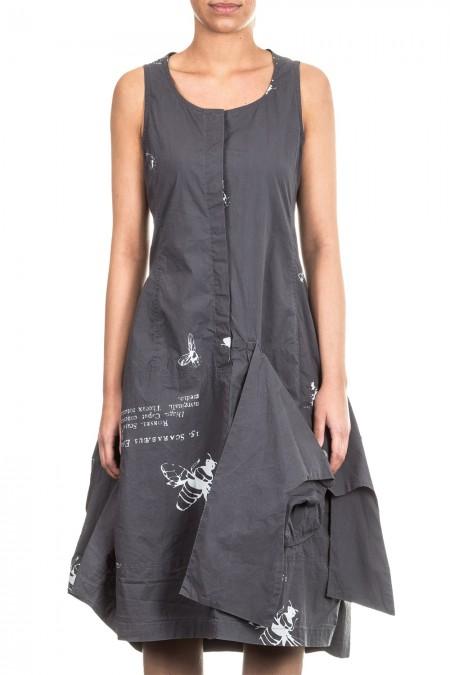 Rundholz Black Label Damen Kleid Avantgarde grau