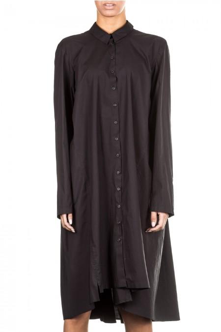 Rundholz Damen Kleid Avantgarde Oversized schwarz