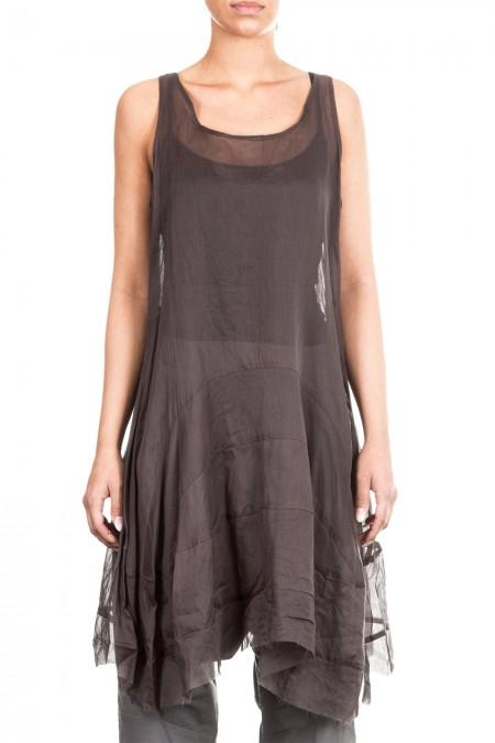 Rundholz Damen Kleid oliv