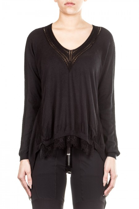 HIGH Damen Pullover ACADEMY schwarz