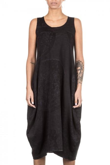 Rundholz Black Label Damen Kleid schwarz blau