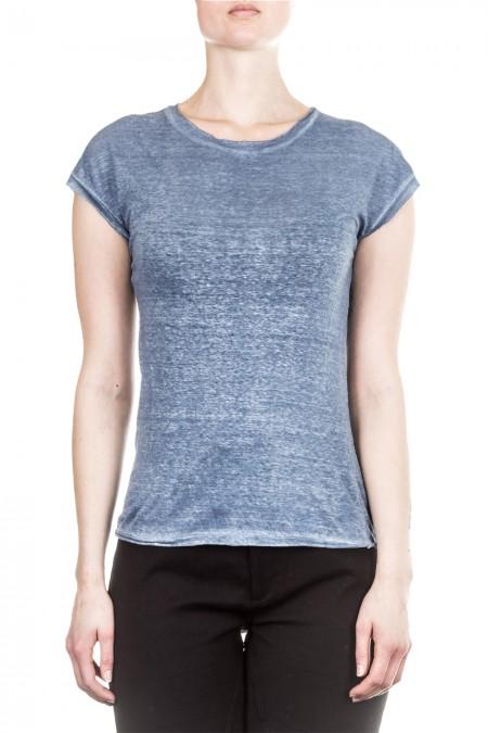 AVANT TOI Damen Leinen T-Shirt blau