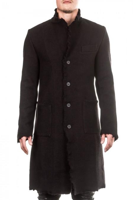 AVANT TOI Herren Woll  Mantel schwarz
