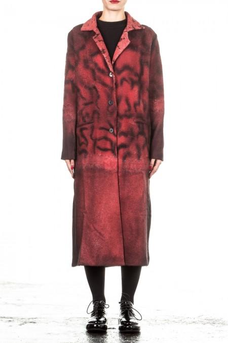 AVANT TOI Damen Mantel rot schwarz