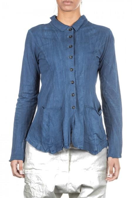 Rundholz Damen Jacke blau