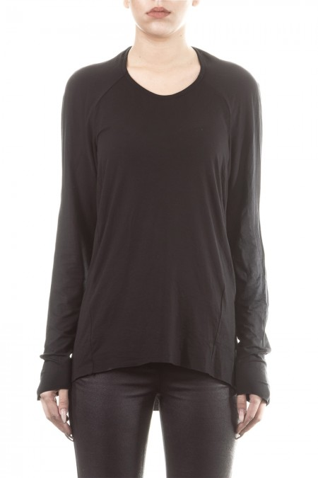 UMASAN Damen Langarmshirt schwarz
