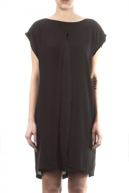 Silent Damir Doma Damen Viskose Kleid schwarz
