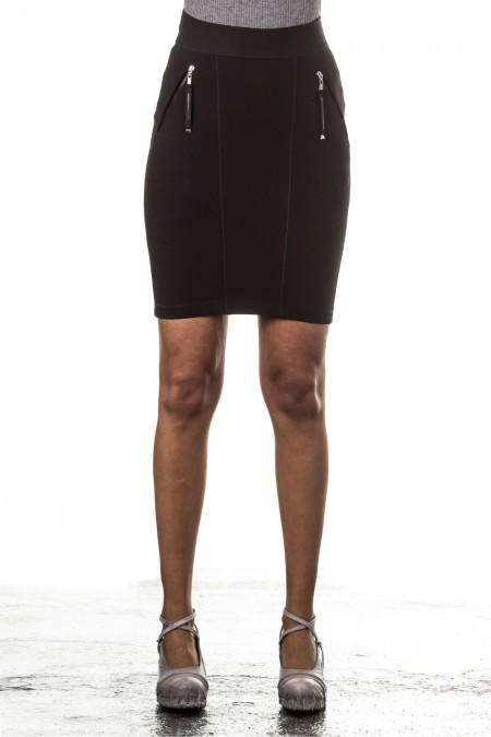 HIGH Mini Skirt ACUTE black