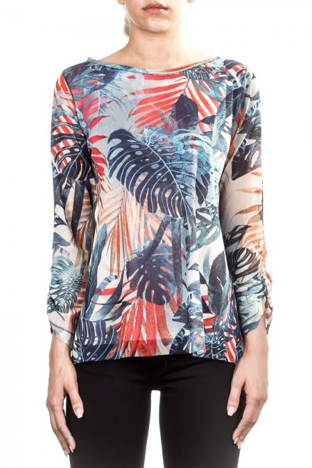 FUZZI Damen Langarmshirt multicolour