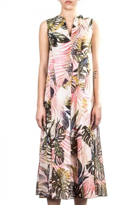 FUZZI Damen Kleid A-Form multicolour