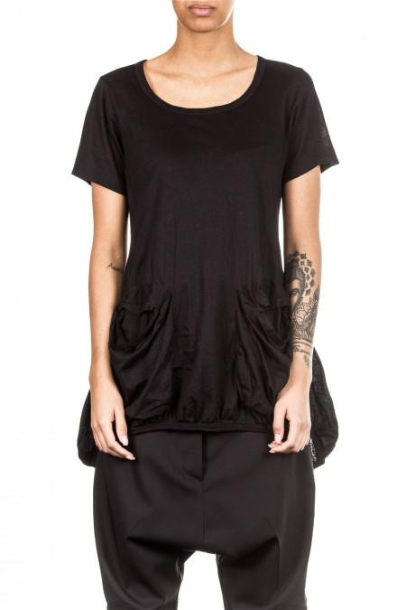 Rundholz Damen T-Shirt Avantgarde schwarz