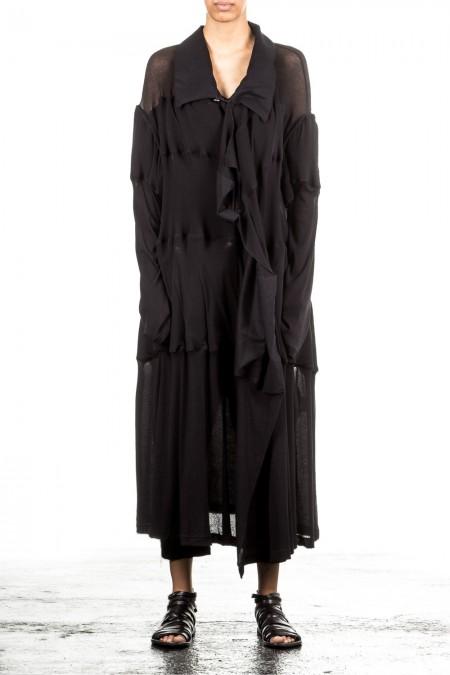 Yohji Yamamoto Damen Mantel Avantgarde schwarz