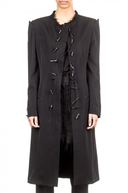 Yohji Yamamoto Damen Mantel lang schwarz