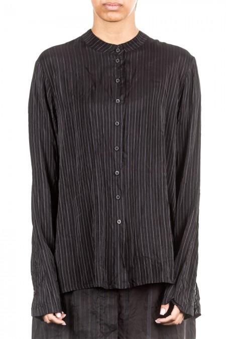 Rundholz Damen Bluse stripe schwarz