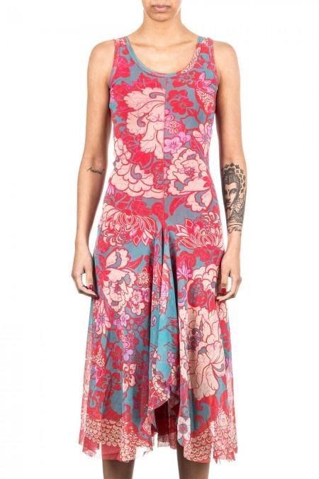 FUZZI Damen Kleid lang multicolour