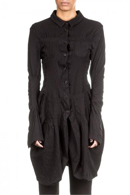 Rundholz Damen Kleid Avantgarde schwarz