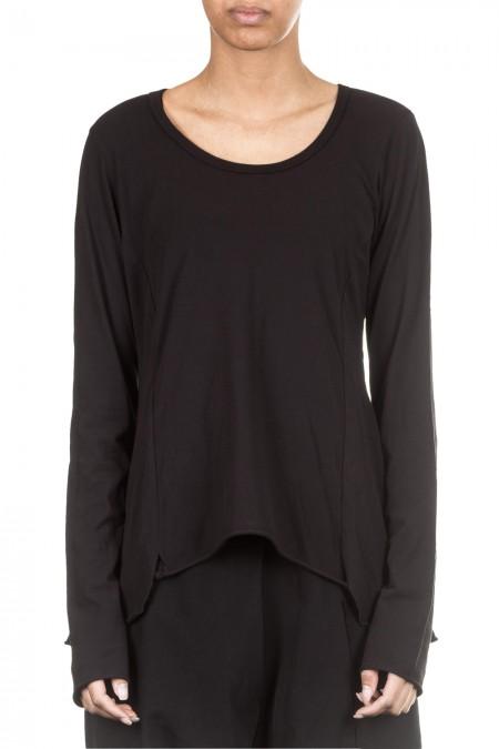 Rundholz Black Label Damen Langarm Shirt Avantgarde schwarz