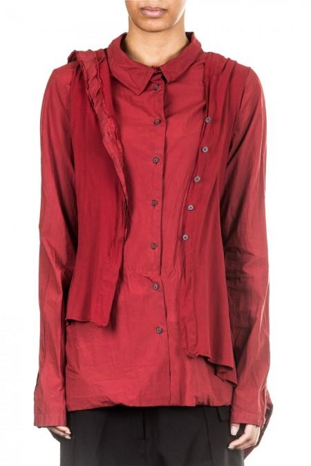 Rundholz Dip Damen Jerseyjacke mit Kapuze rot