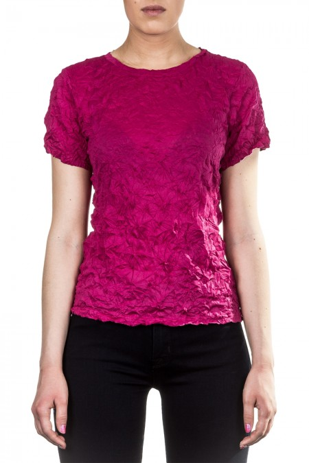 Issey Miyake Cauliflower Damen Shirt Crashed Look magenta