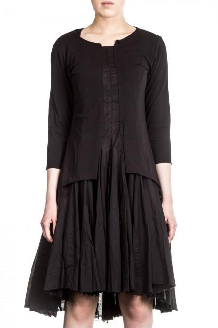 Rundholz Black Label Damen Kleid Avantgarde schwarz