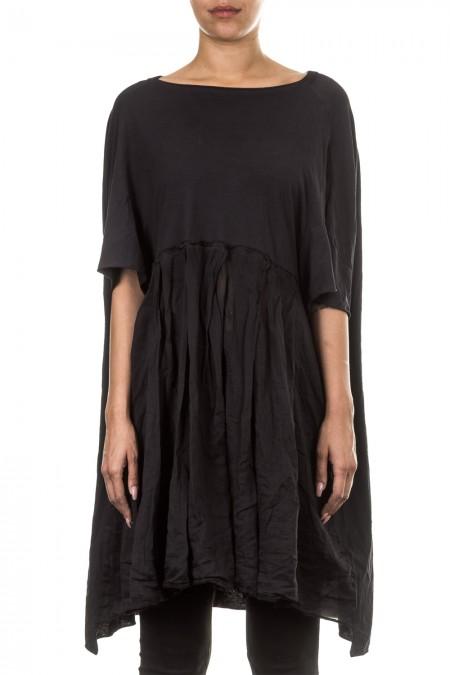 Rundholz Dip Kleid Oversized dunkelblau