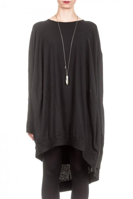 Rundholz Dip Damen Kleid Oversized schwarz