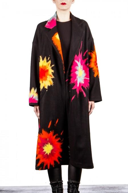 AVANT TOI Damen Mantel oversized schwarz