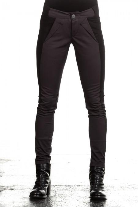 UMASAN Damen Hose Avantgarde grau schwarz