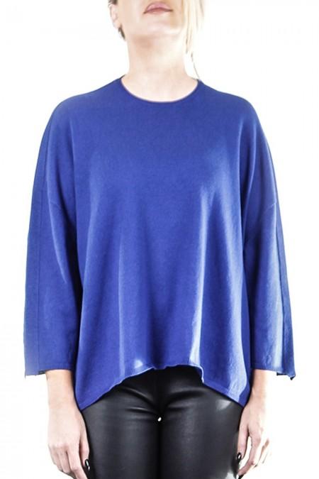 OYUNA Damen Strickshirt oversized blau