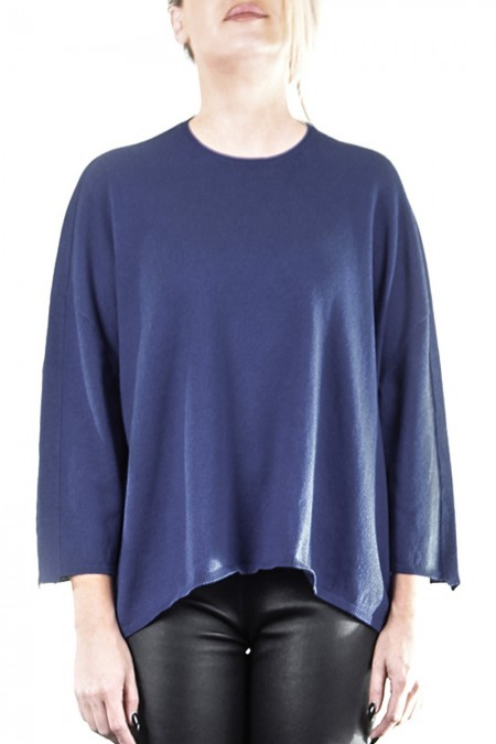 OYUNA Damen Strickshirt oversized navy
