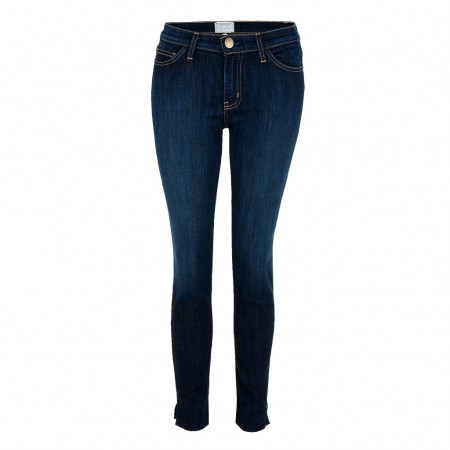 Current Elliott THE SIDE SLIT STILETTO Jeans District blau