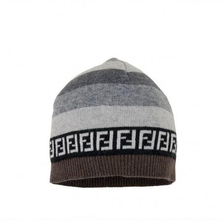 Fendi Mütze grau/braun