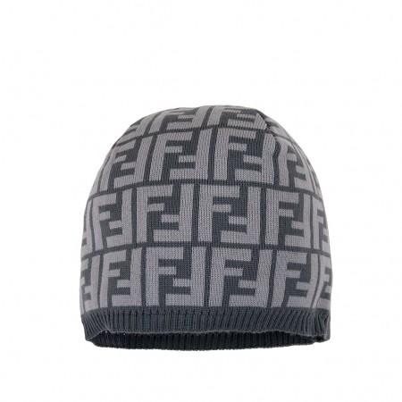 Fendi Mütze grau und taupe