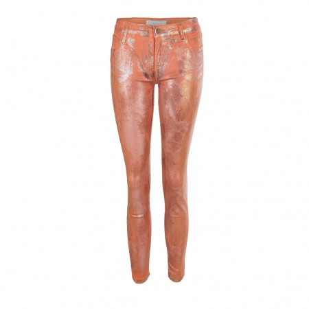 75 Faubourg Skinny 7/8 Jeans Pumpkin orange