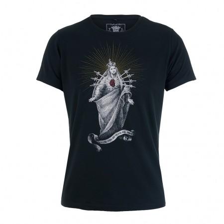Tee Library T-Shirt DEUS ADERIT schwarz
