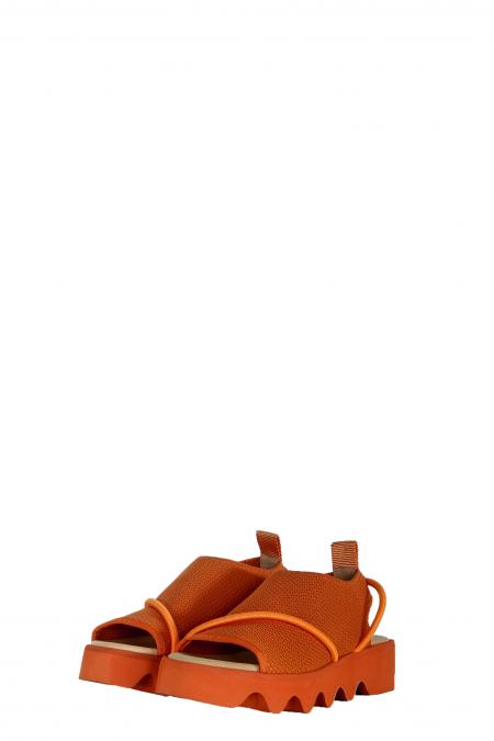 Issey Miyake x United Nude Damen Sandale orange