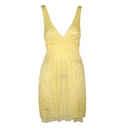 Shivadiva Pailletten Kleid gelb