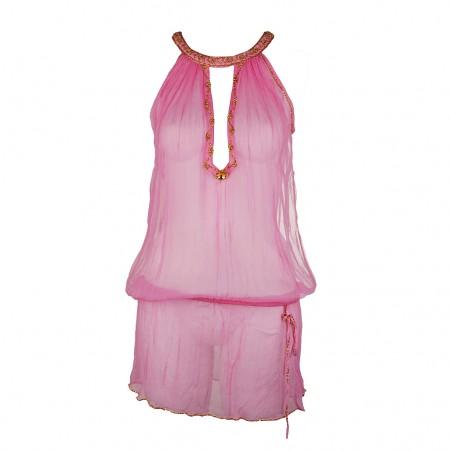Shivadiva Seiden Top Kleid pink