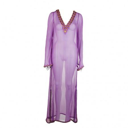 Shivadiva Seiden Kleid violett