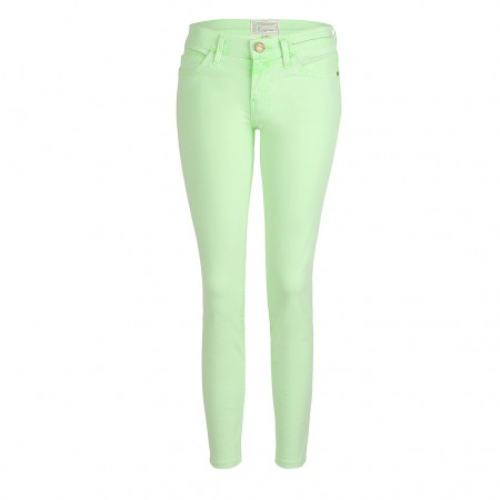 Current Elliott Jeans THE STILETTO lime green