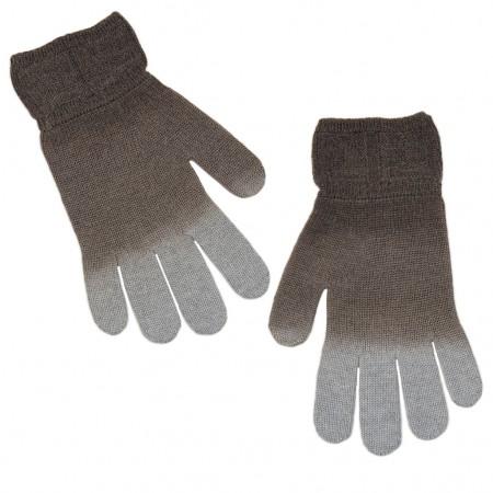 Fendi Handschuhe braun/grau