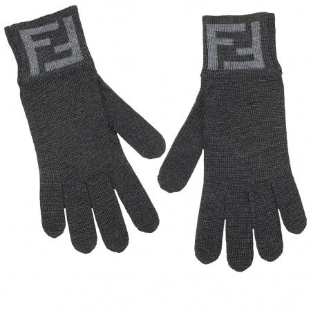 Fendi Handschuhe anthrazit