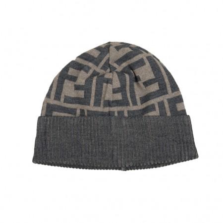 Fendi Mütze beige/grau