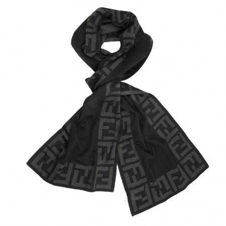 Fendi Schal schwarz/grau