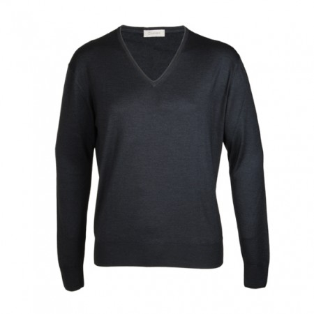 Cruciani Cashmere V-Pullover anthrazit