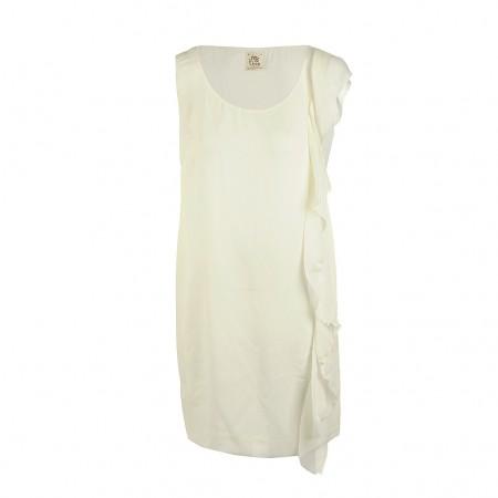 Attic & Barn robe femme  en soie blanc