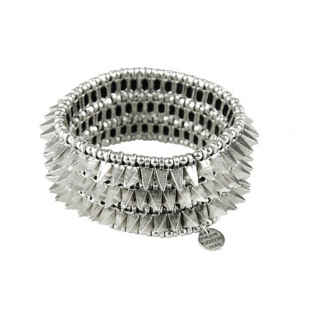 Philippe Audibert Armband silver spikes and pearls
