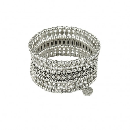 Philippe Audibert Armband silver studs, pearls and Swarovski